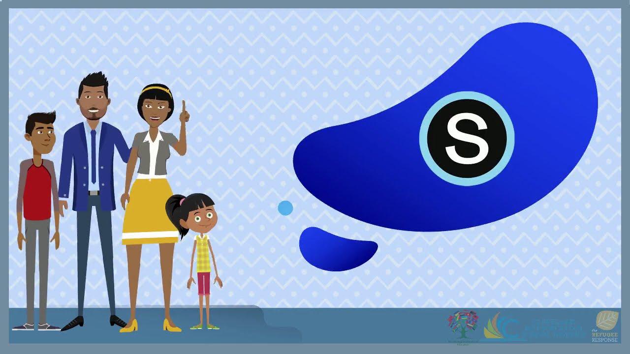 Schoology logo with cartoon of family