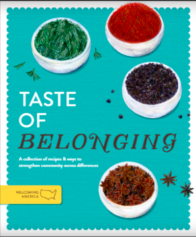 Illustrated cover sheet with bowls of spices