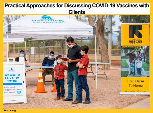 Image of family at vaccination site