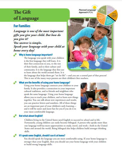 Typed fact sheet with parent and child